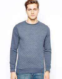 Asos Quilted Sweatshirt Navy   Where to buy & how to wear & ... Asos Quilted Sweatshirt Navy Adamdwight.com