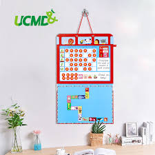Us 39 92 20 Off Decorative Printing Wall Calendar Kids Growth Reward Chore Behavior Charts Hanging Board Dry Erase Weekly Planner Children Toys In