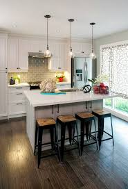 small pendant lights over kitchen