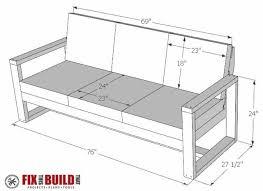 diy outdoor sofa. DIY Modern Outdoor Sofa Plans Diy