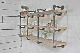 industrial display and wall shelves