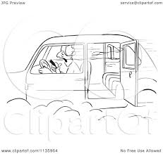 open door clipart black and white. Clipart Of A Retro Vintage Man Smoking Cigar In Car With An Open Door Black And White - Royalty Free Vector Illustration By Picsburg