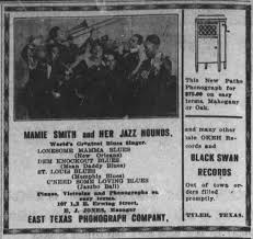 Black Swan Mamie Smith Ad Dallas Express 1922-09-02 - Newspapers.com