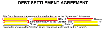 Sample Agreement To Pay Debt Free Debt Settlement Agreement Template Sample Word