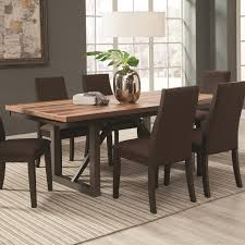 coaster spring creek 106581 dining table with 18 extension leaf