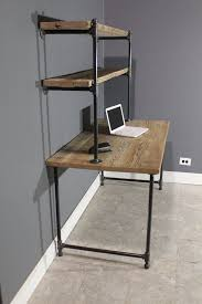 raw reclaimed computer desk w 2 shelves by urbanwoodfurnishings rustic studio apartment desks shelves and room