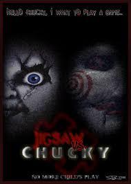 jigsaw saw wallpaper. jigsaw vs. chucky poster by ryansd saw wallpaper