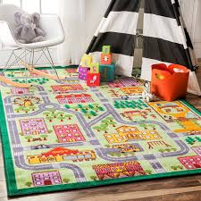 charming multi color kids rugs for cute kids room decor ideas