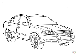 Nissan almera coloring page free printable coloring pages