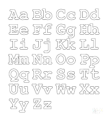 Free Alphabet Coloring Pages Alphabet Coloring Pages A Z New V