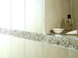 bathroom border bathroom tile border ideas borders bathrooms mosaic tiles awesome floor black hex design glass