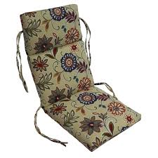 patio chair cushion image permalink allen roth neverwet 2 piece wheat deep seat