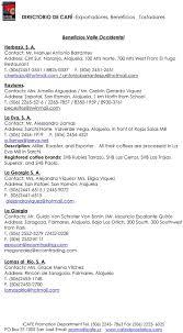 DIRECTORIO DE CAFÉ -Exportadores, Beneficios, Tostadores - PDF Free Download