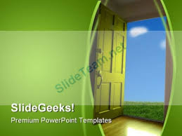 Door Nature Powerpoint Template 1110 #powerpoint #templates #themes ...