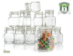 stock your home 3 oz airtight glass jar with leak proof rubber gasket and hinged lid for home and kitchen multi purpose container for herbs spices