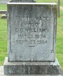 """Elisabeth """"Bettie"""" Wade Williams (1874-1924) - Find A Grave Memorial"""