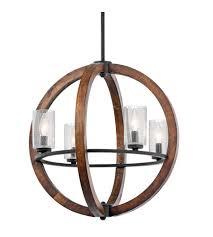 kichler 43185aub grand bank 4 light 20 inch auburn stained finish chandelier ceiling light photo