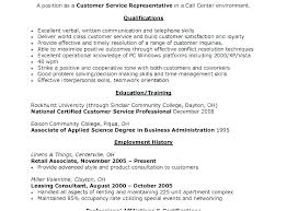 Qualifications For A Customer Service Representative At And T Customer Service Representative Sample Resume