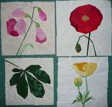 Paper Piecing Flower Conjunto De Flores Quilt Blocks Pieced Borders And Sashings