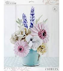 Paper Flower Kit Amazon Com Jolees Boutique Parisian Large Paper 10pc