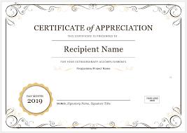 Certificate Of Appreciation Template Editable Example 992