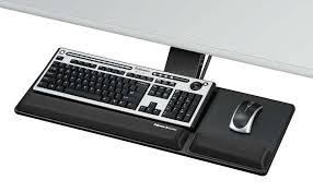 adjule keyboard tray under desk fel b o 1 lg graceful inside decorations 17