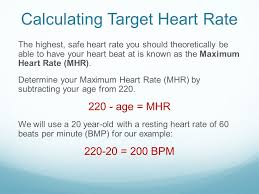 Calculating Target Heart Rate Thr Zone Ppt Video Online