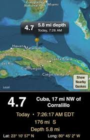 • live quake cam, picks up m3 quakes in the us, m5 around us and m6 quakes worldwide. Nws Miami On Twitter 4 7 Mag Earthquake North Coast Of Cuba This Morning Felt Weakly In The Florida Keys Flwx Http T Co Suqwosrenj