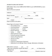 Employee Incident Report Form Template New Incident Report Form
