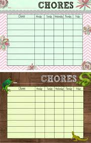 Creatively Quirky At Home Free Printable Chore Chart Also