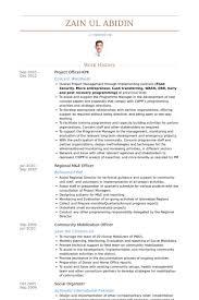 Project Officer Kpk Resume samples