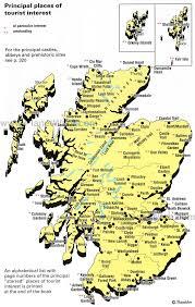 map of scotland printable. Modren Scotland Scotland  Places Of Tourist Interest Map In Of Printable A