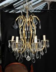 french art nouveau ormolu chandelier light lamps cut glass