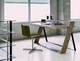 Desk Design Ideas, Modern Cool Home Office Desks Classic 20 Chair Brown  Wooden Windows Curtain