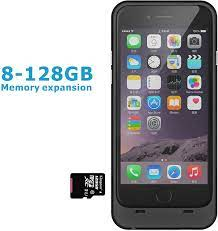 iPhone 6 6s Memory battery case 3200mAh with TF Card Slot(Support 128GB  expansion) Ultra Slim backup Charger for iPhone 6/6s(4.7inches)-Dark black:  Amazon.co.uk: Electronics & Photo