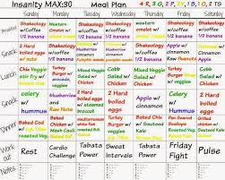 insanity max 30 meal plan plan de comidas que acompaña el intenso dvd de
