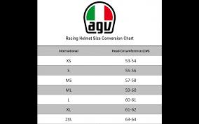 Agv Corsa R Size Chart Agv Corsa R Casanova Black Red Green Motorcycle Helmet