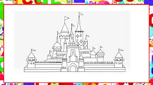 How To Draw Castle In Ms Paint Coloring Pages House For Kids Youtube
