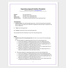 speech outline template samples examples and formats expository speech outline template