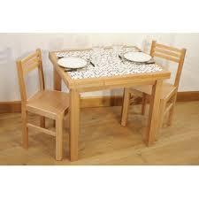 Ensemble Table Cuisine Carrelée Mosaïque 4 Chaises Finition Naturelle