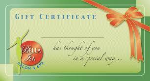 gift certificates bella isa spa boracay