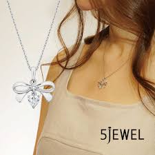 heart cz diamond ribbon lady jewelry pendant necklace silver 925 white gold plating best grade cubic zirconia diamond pretty popular gift birthday
