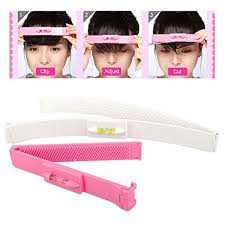 2pcs diy professional hair bang cutting clip comb