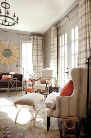 Living Room, Wonderful Design With Soft Small Bench On Cream Pattern Carpet  And Best