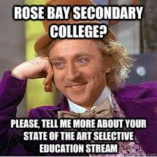 Rose bay secondary college? please, tell me more about your state ... via Relatably.com