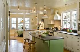 kitchen lighting images. View In Gallery Charming Kitchen Space With Green Hues And Lowhanging Pendant Lighting Images