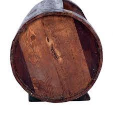 wooden barrel wine rack