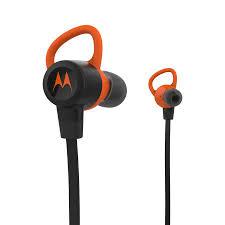 motorola wireless headphones. motorola verveloop+ wireless bluetooth aptx earbuds - black / orange headphones s