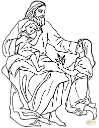 Jesus Loves The Little Children Coloring Page Love One Another