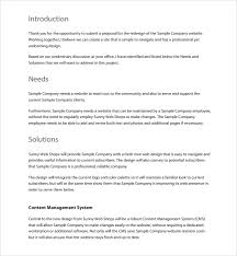 Cost Proposal Template Word Download Website Proposal Template Word Bonsai
